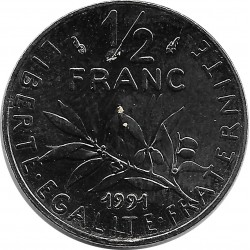 FRANCE 1/2 FRANC ROTY 1991 FRAPPE MEDAILLE SUP/NC