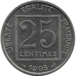 FRANCE 25 CENTIMES PATEY 1er TYPE 1903 TTB+