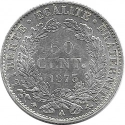 FRANCE 50 CENTIMES CERES 1873 A SUP