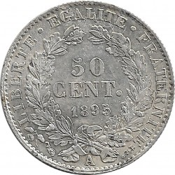 FRANCE 50 CENTIMES CERES 1895 A SUP