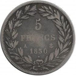FRANCE 5 FRANCS LOUIS-PHILIPPE I 1830 A TRANCHE EN RELIEF TB