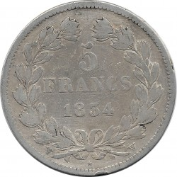 FRANCE 5 FRANCS LOUIS-PHILIPPE I 1834 W (Lille) TB