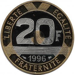 FRANCE 20 FRANCS MONT ST MICHEL 1996 BE BELLE EPREUVE