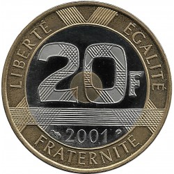 FRANCE 20 FRANCS MONT ST MICHEL 2001 BE