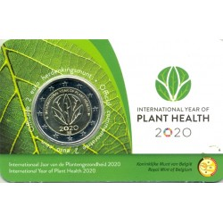 BELGIQUE 2020 2 EURO COMMEMORATIVE ANNEE DES PLANTES COINCARD VERSION FLAMAND