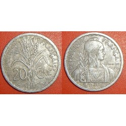 INDOCHINE 20 CENT 1945 TTB