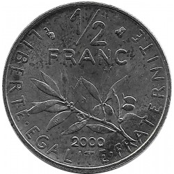 FRANCE 1/2 FRANC ROTY 2000 SUP-