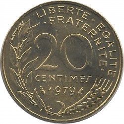FRANCE 20 CENTIMES LAGRIFFOUL 1979 FDC