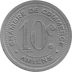 80 SOMMES - AMIENS 10 CENTIMES 1920 SUP