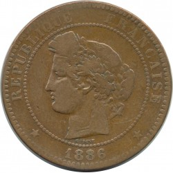 FRANCE 10 CENTIMES CERES 1886 A TB