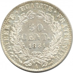 FRANCE 50 CENTIMES CERES 1881 A (Paris) SUP