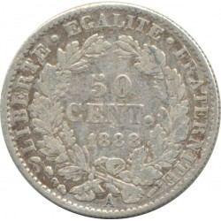 FRANCE 50 CENTIMES CERES 1888 A (Paris) TB+