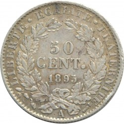 FRANCE 50 CENTIMES CERES 1895 A (Paris) TTB