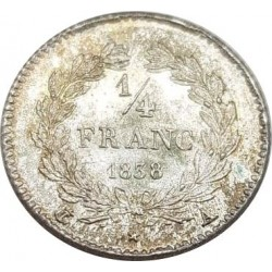 FRANCE 1/4 FRANC LOUIS PHILIPPE 1838 A (Paris) SUP/NC