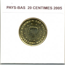 HOLLANDE ( PAYS-BAS) 2005 20 CENTIMES SUP