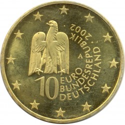 ALLEMAGNE 10 EURO 2002 A ILE AU MUSEE BERLIN SUP ARGENT DOREE
