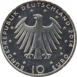 ALLEMAGNE 10 EURO 2014 D 150 ANS RICHARD STRAUSS BE