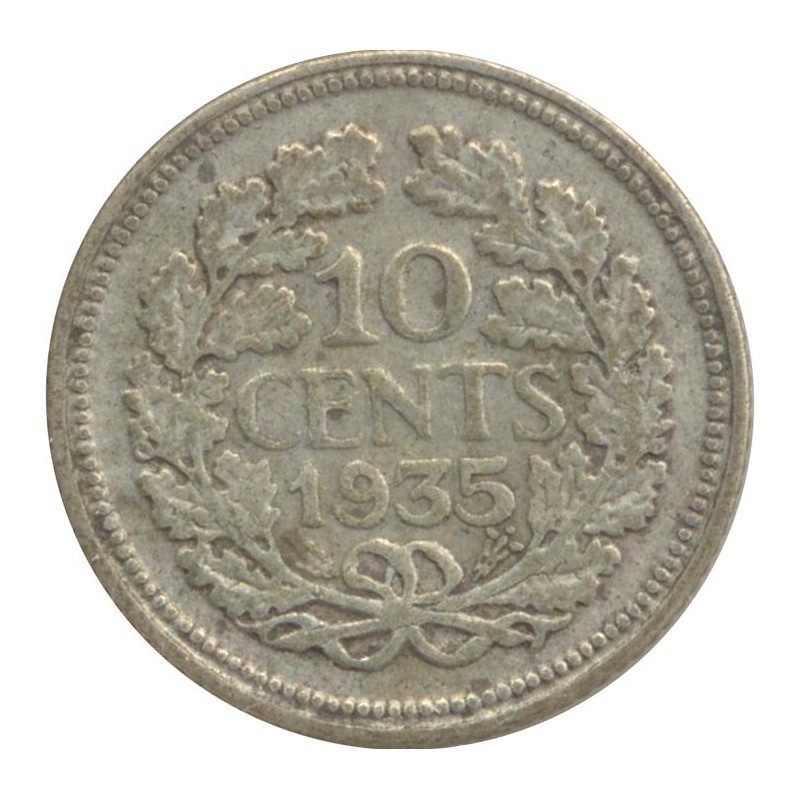 HOLLANDE 10 CENTS 1935 TB+