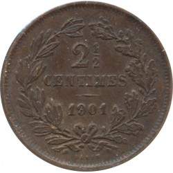 LUXEMBOURG 2 1/2 CENTIMES 1901 TTB+