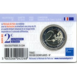 FRANCE 2020 2 EURO COMMEMORATIVE RECHERCHE MEDICAL UNION COINCARD
