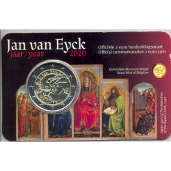 BELGIQUE 2020 2 EURO COMMEMORATIVE JAN VAN EYCK COINCARD VERSION FLAMAND