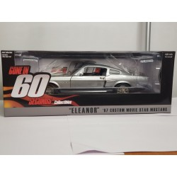 FORD MUSTANG GT 500 1967 ELEANOR 60 SECONDES CHRONO GREENLIGHT 1/18 BOITE NEUVE