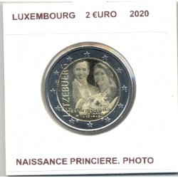 LUXEMBOURG 2020 2 EURO COMMEMORATIVE NAISSANCE PRINCIERE .PHOTO SUP